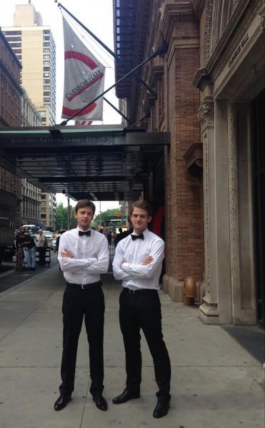 Bartosz Kołaczkowski i Wojciech Szymczewski w nowojorskiej Carnegie Hall