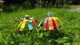 Na zdjęciu kolorowe butelki