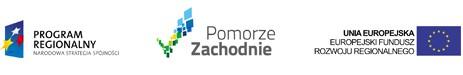 Obrazek przedstawiający kolejno w układzie poziomym Logo Narodowej Strategii Spójności Program Regionalny, logo Pomorza Zachodniego oraz logo Europejskiego Funduszu Rozwoju Regionalnego