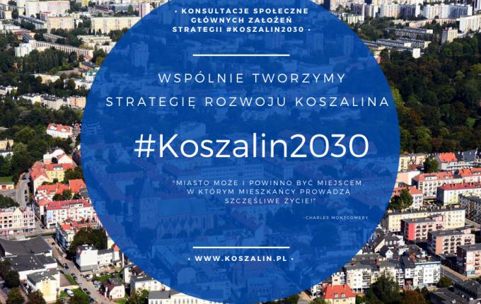 Grafika z napisem #Koszalin2030