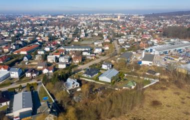 Zdjęcie przedstawia panoramę terenu Dzierżęcin - Lubiatowo