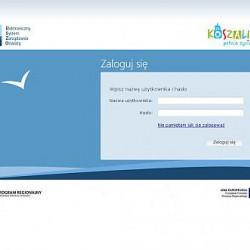 okno logowania do portalu edukacyjnego
