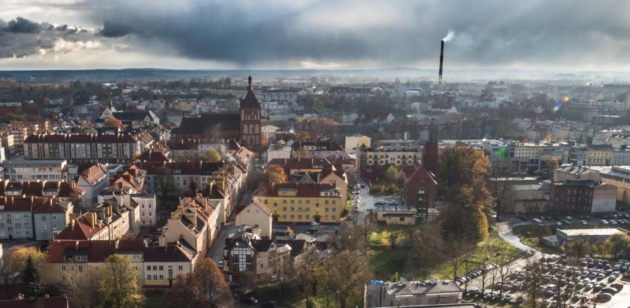 Na zdjęciu widoczny jest Koszalin widziany z lotu ptaka