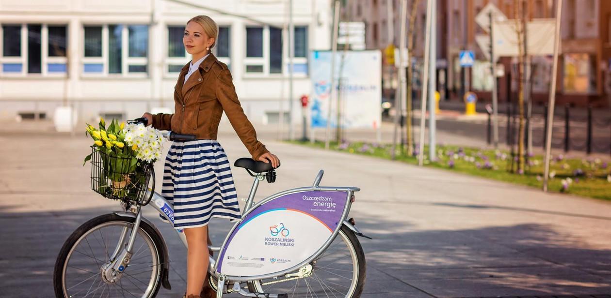 Na zdjęciu Koszaliński Rower Miejski