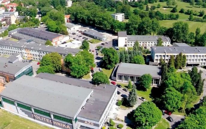 Na zdjęciu kampus Politechniki Koszalińskiej z lotu ptaka.