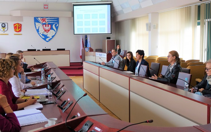 Na zdjęciu spotkanie z przedstawicielami Urzędu Miejskiego w Gorzowie