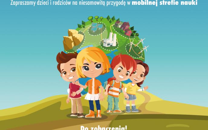 Plakat mobilnej strefy nauki Planety Energii