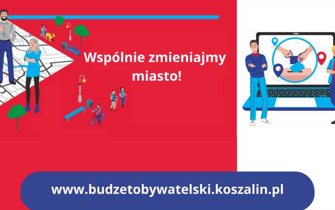 grafika zachęcająca do udziału w głosowaniu na Koszaliński Budżet Obywatelski 2022