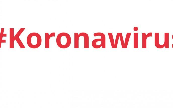Napis: Koronawirus. Zalecenia dla Seniorów