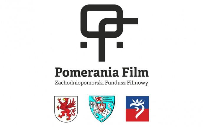 Na zdjęciu pokazane jest logo Pomerania Film Zachodniopomorski Fundusz Filmowy