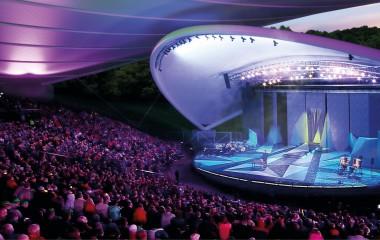 Zdjęcie przedstawia wizualizację amfiteatru w Koszalinie
