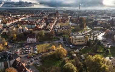 Na zdjęciu miasto Koszalin z lotu ptaka