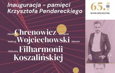 Zdjęcie przedstawia plakat koncertu, na którym znajduje sie zdjecie dyrygenta Jakuba Chrenowicza