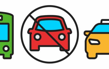 graficzne przedstawienie przekreślonego samochodu