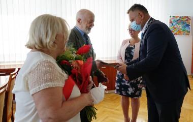 Państwo Irena i Krzysztof Wijas oraz Prezydent Miasta Koszalina