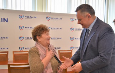 Na zdjęciu Ludmiła Kalinowska z Prezydentem Miasta