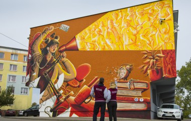 Nowy mural Cukina