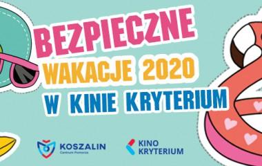 """Plakat prezentujący wydarzenie """"Bezpieczne wakacje 2020"""""""