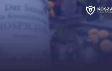 na zdjęciu znajduje się puszka do której zbiera się co roku pieniądze na rzecz Hospicjum w Koszalinie