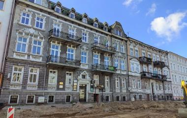 Na zdjęciu budynki przy ul. Piłsudskiego 26 i 28 w Koszalinie