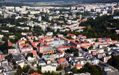 Zdjęcie Koszalina z lotu ptaka
