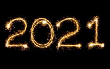 Życzenia noworoczne. Na zdjęciu liczba 2021