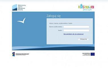 Strona logowania do Portalu Edukacyjnego Koszalin